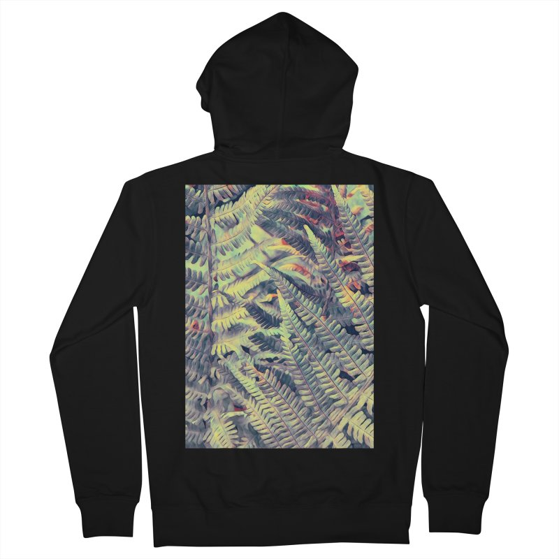 ferns flora art Women's French Terry Zip-Up Hoody by jbjart Artist Shop