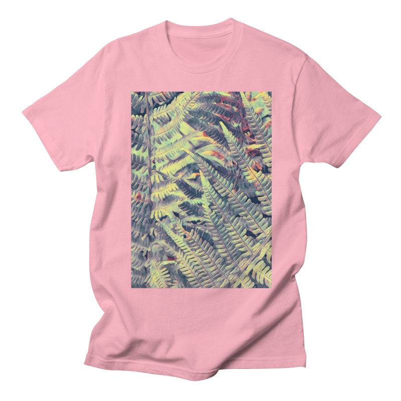 ferns flora art Men's Regular T-Shirt by jbjart Artist Shop