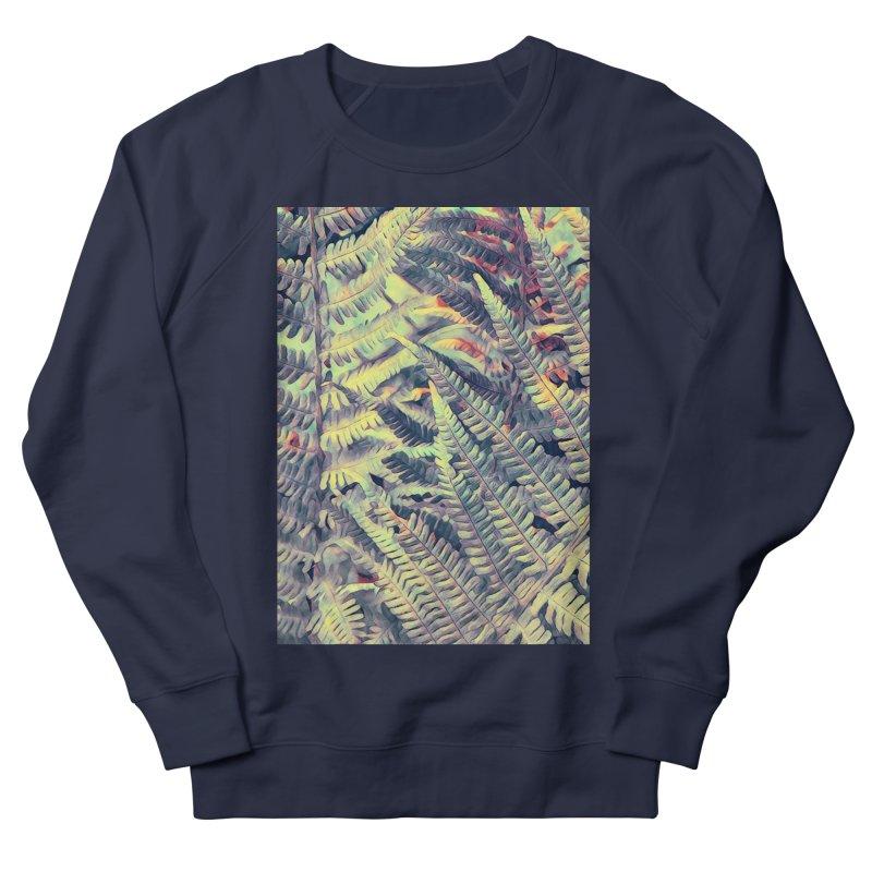 ferns flora art Women's French Terry Sweatshirt by jbjart Artist Shop