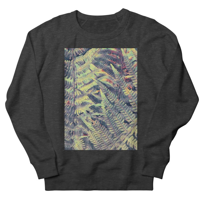ferns flora art Men's French Terry Sweatshirt by jbjart Artist Shop