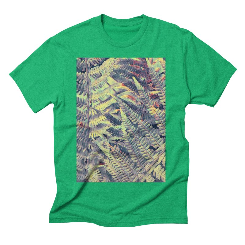 ferns flora art Men's Triblend T-Shirt by jbjart Artist Shop