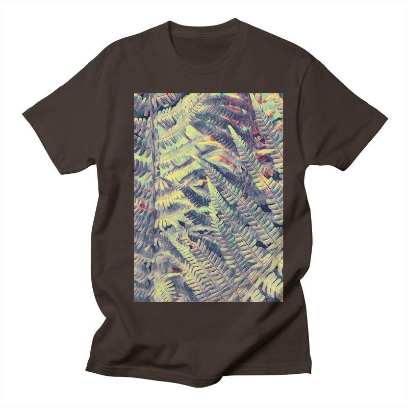 ferns flora art Men's Regular T-Shirt by jbjart Artist Shop