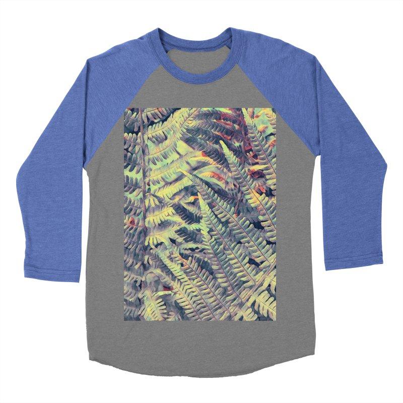 ferns flora art Men's Baseball Triblend Longsleeve T-Shirt by jbjart Artist Shop
