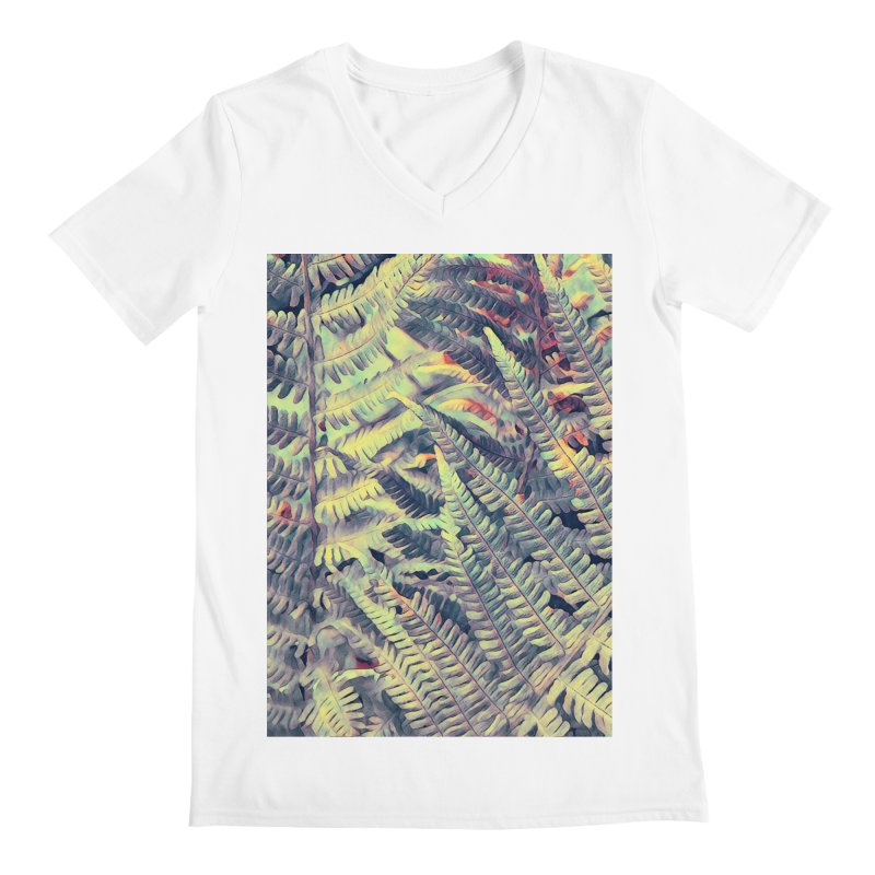 ferns flora art Men's V-Neck by jbjart Artist Shop