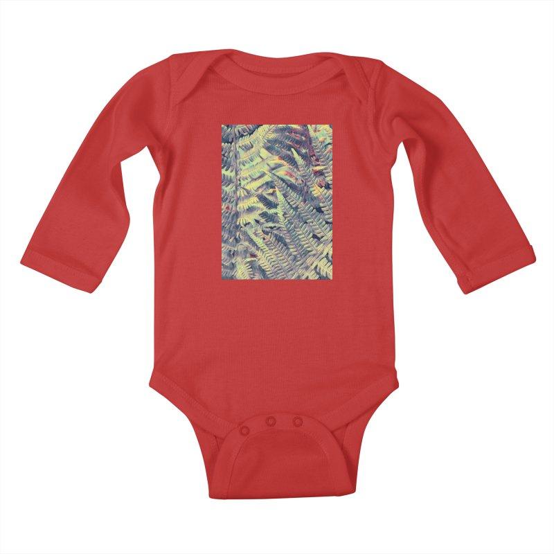 ferns flora art Kids Baby Longsleeve Bodysuit by jbjart Artist Shop