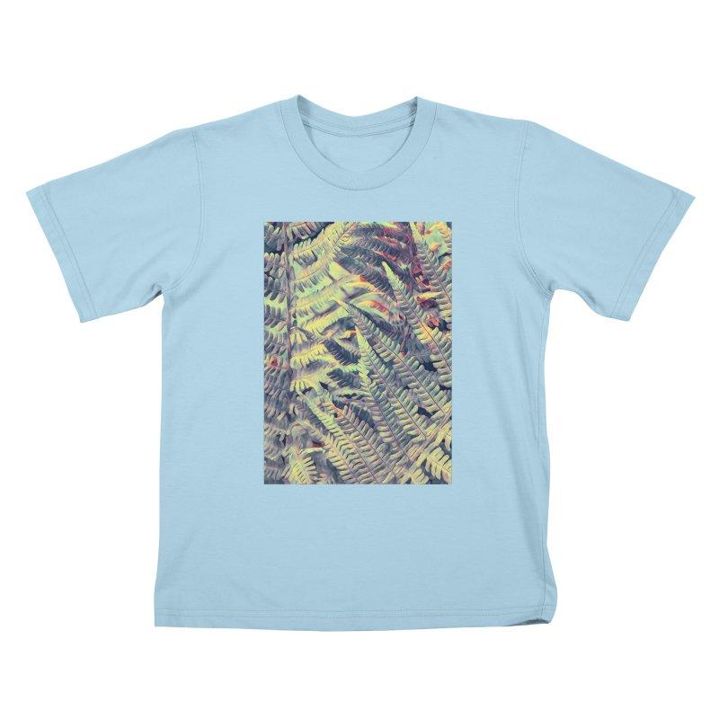 ferns flora art Kids T-Shirt by jbjart Artist Shop