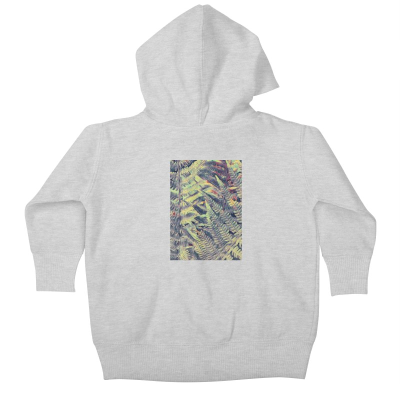 ferns flora art Kids Baby Zip-Up Hoody by jbjart Artist Shop