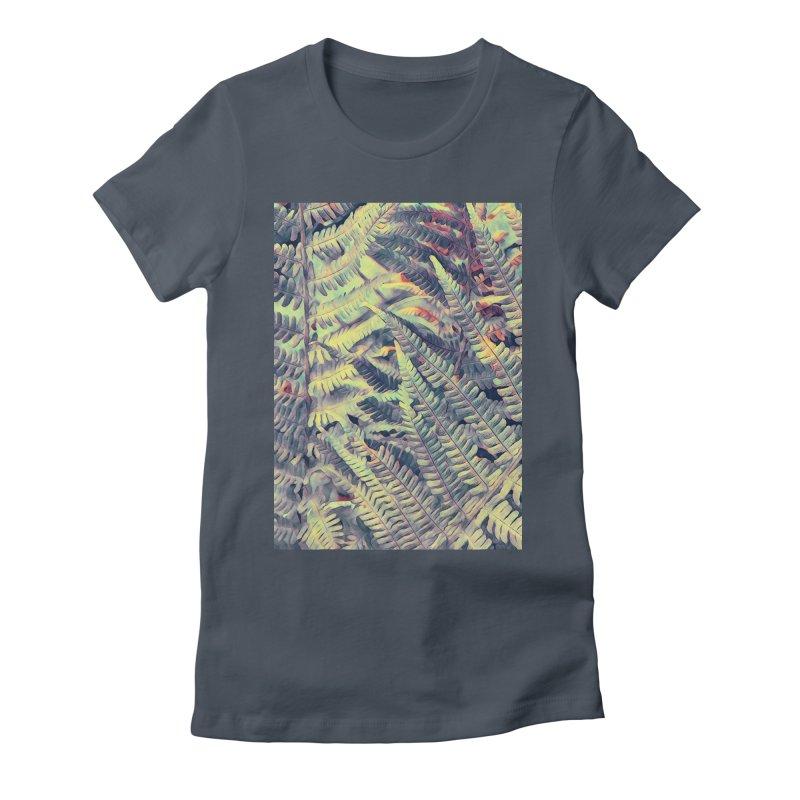 ferns flora art Women's T-Shirt by jbjart Artist Shop