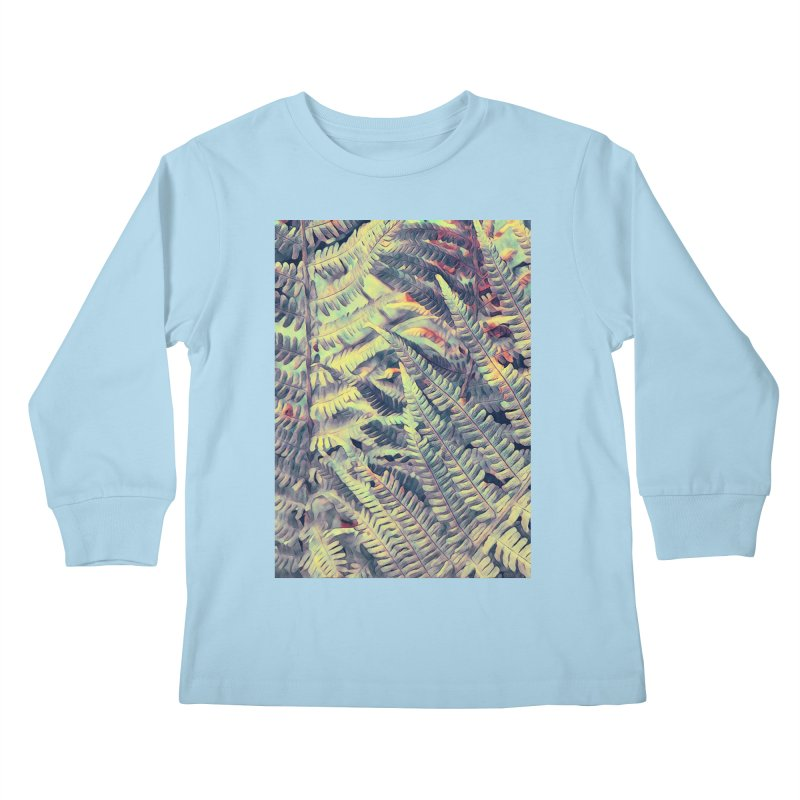 ferns flora art Kids Longsleeve T-Shirt by jbjart Artist Shop
