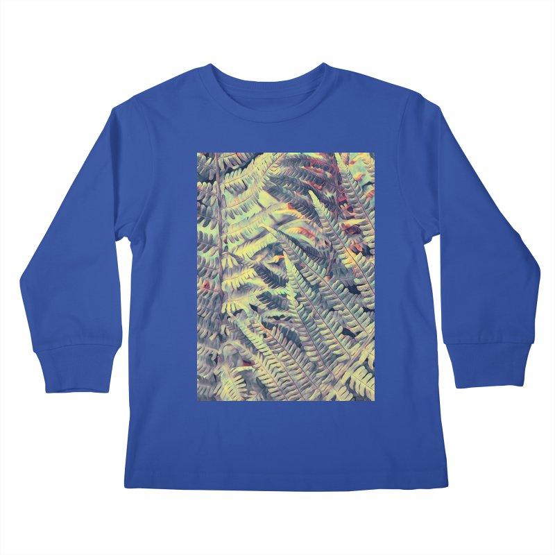 ferns flora art Kids Longsleeve T-Shirt by jbjart Artist Shop