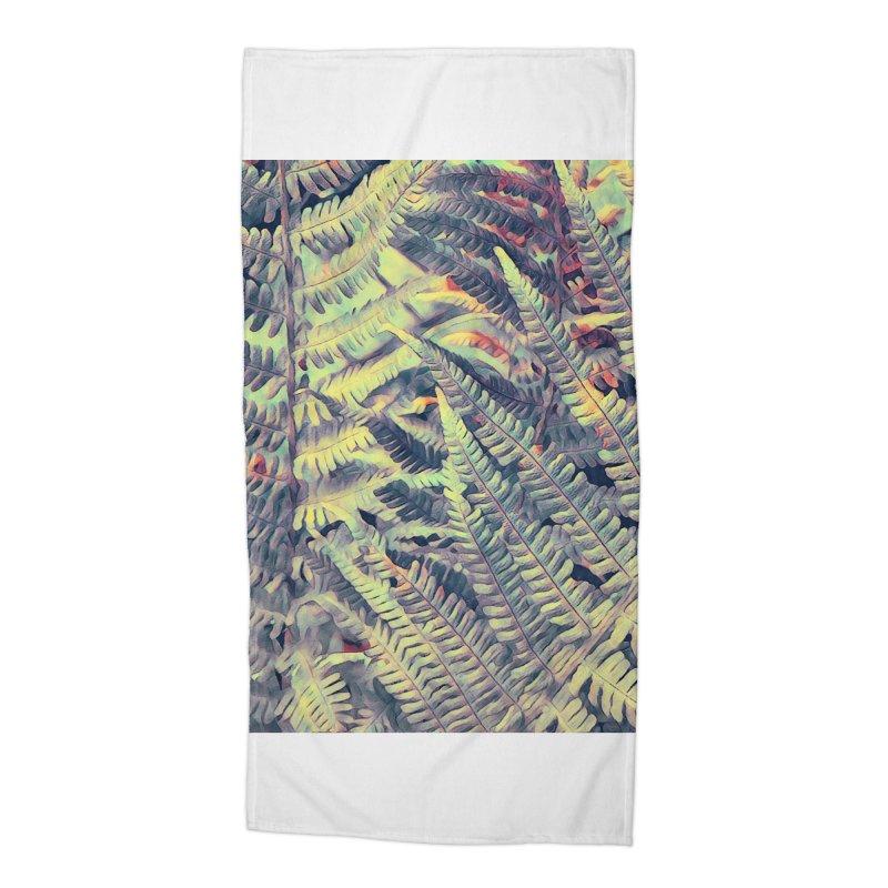 ferns flora art Accessories Beach Towel by jbjart Artist Shop