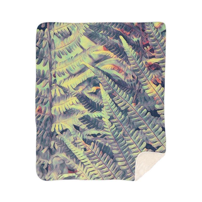 ferns flora art Home Sherpa Blanket Blanket by jbjart Artist Shop