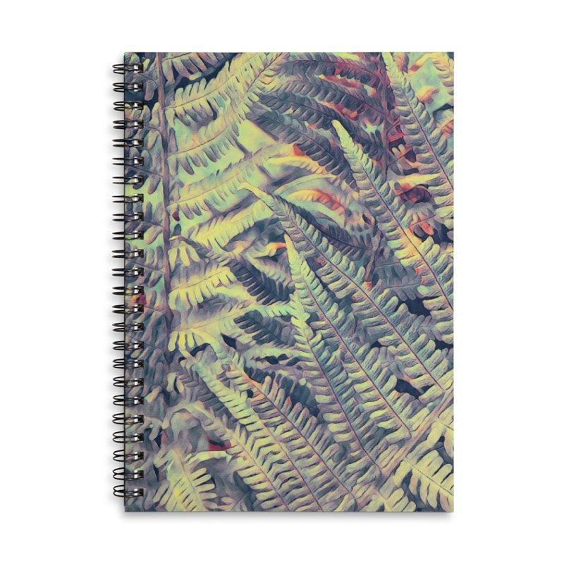 ferns flora art Accessories Lined Spiral Notebook by jbjart Artist Shop