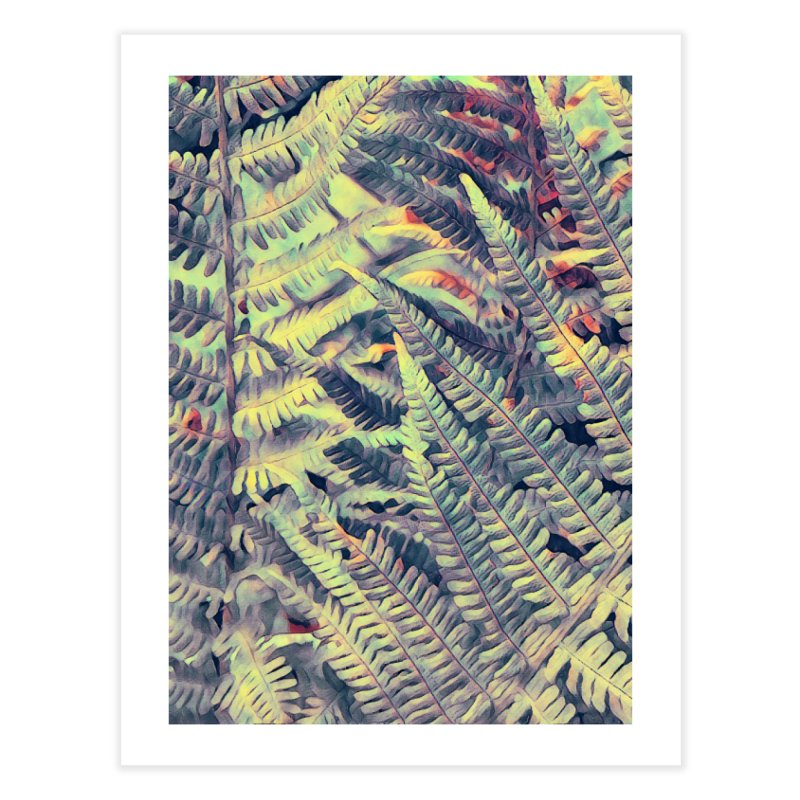 ferns flora art Home Fine Art Print by jbjart Artist Shop