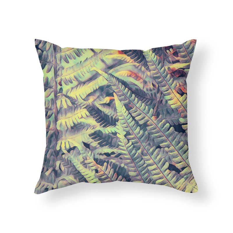 ferns flora art Home Throw Pillow by jbjart Artist Shop