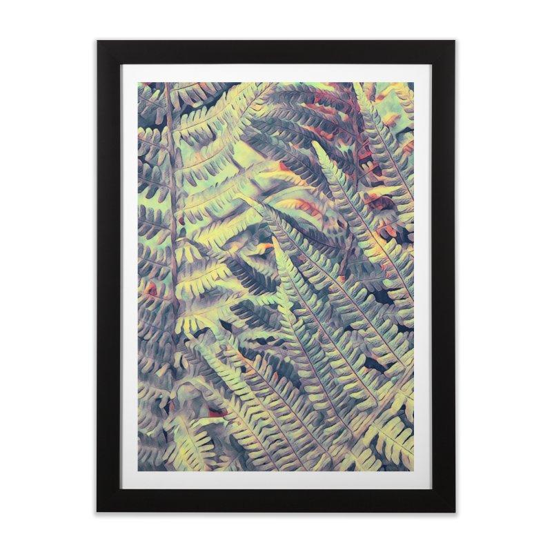 ferns flora art Home Framed Fine Art Print by jbjart Artist Shop
