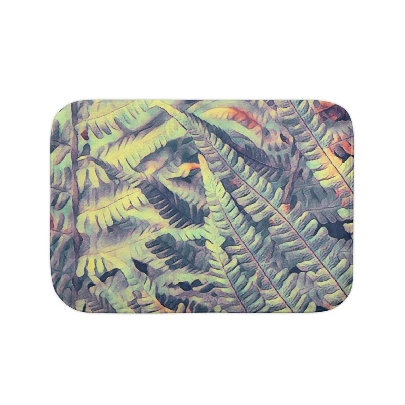 ferns flora art Home Bath Mat by jbjart Artist Shop