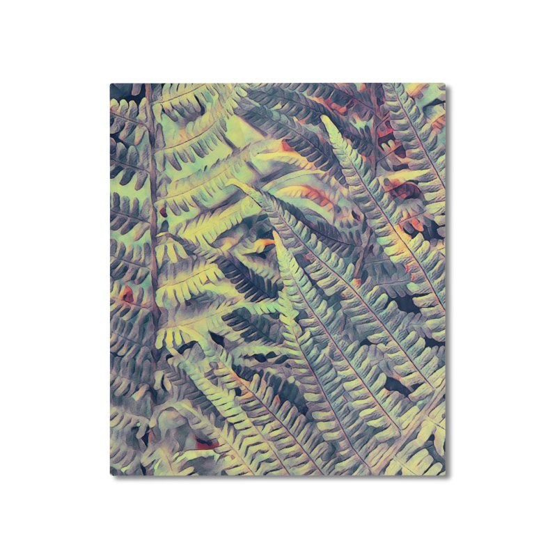 ferns flora art Home Mounted Aluminum Print by jbjart Artist Shop