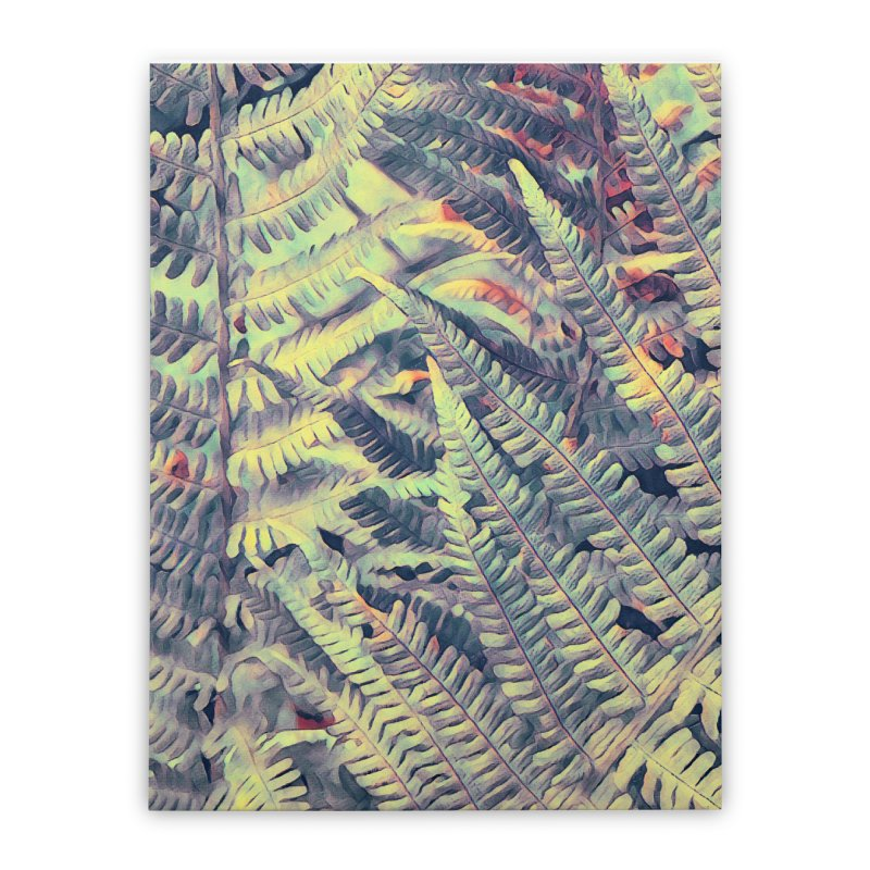 ferns flora art Home Stretched Canvas by jbjart Artist Shop