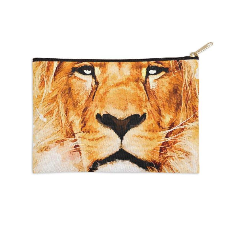 Lion art Accessories Zip Pouch by jbjart Artist Shop
