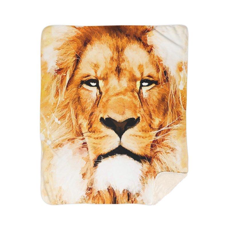 Lion art Home Sherpa Blanket Blanket by jbjart Artist Shop