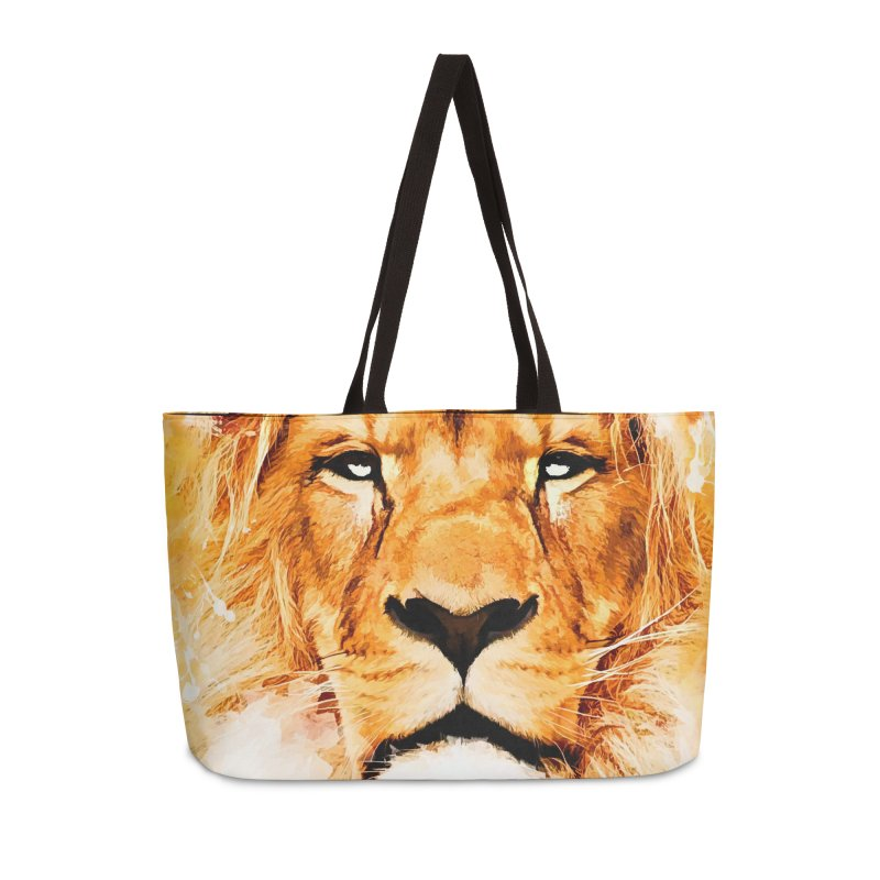 Lion art Accessories Weekender Bag Bag by jbjart Artist Shop