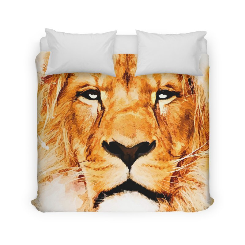 Lion art Home Duvet by jbjart Artist Shop