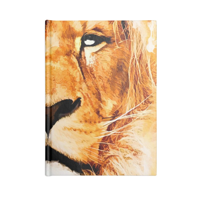 Lion art Accessories Lined Journal Notebook by jbjart Artist Shop