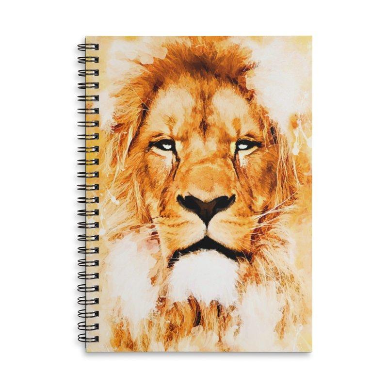 Lion art Accessories Lined Spiral Notebook by jbjart Artist Shop