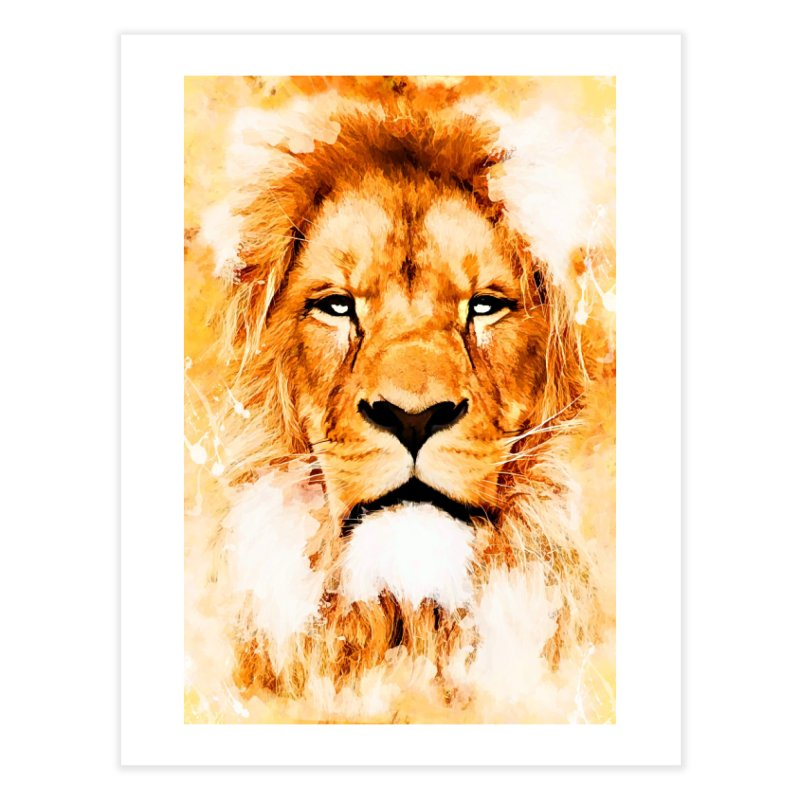 Lion art Home Fine Art Print by jbjart Artist Shop