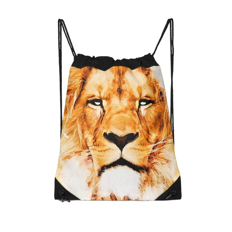 Lion art Accessories Drawstring Bag Bag by jbjart Artist Shop