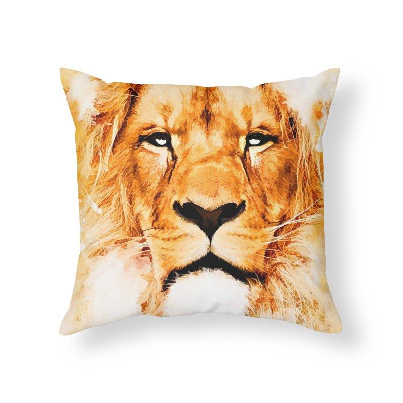 Lion art Home Throw Pillow by jbjart Artist Shop