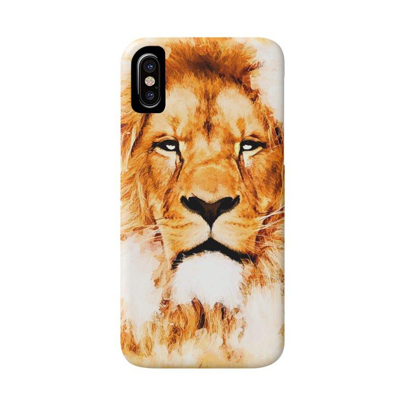 Lion art Accessories Phone Case by jbjart Artist Shop
