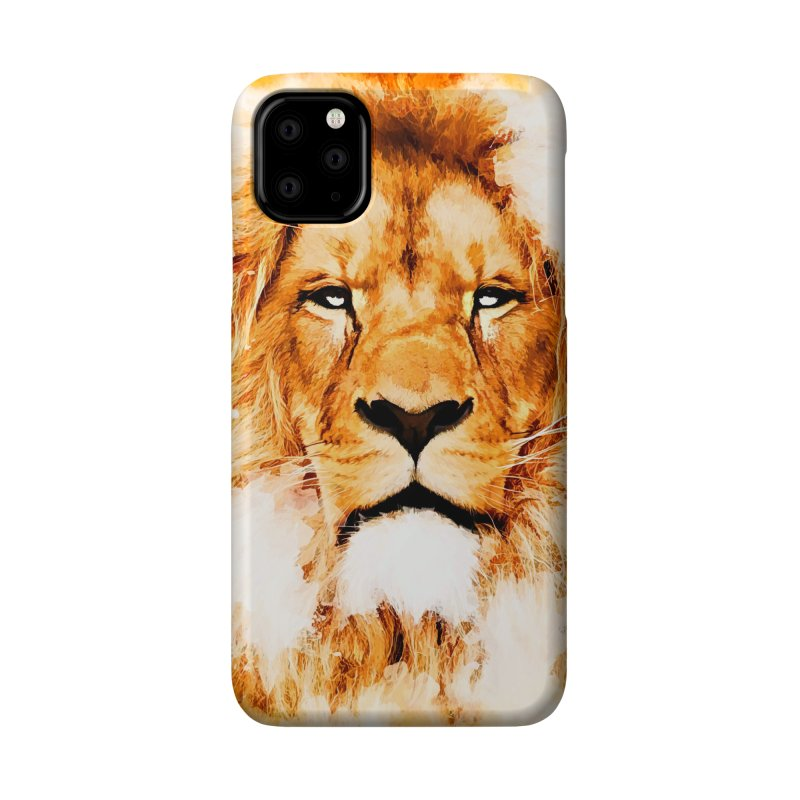 Lion art Accessories Phone Case by jbjart Artist Shop