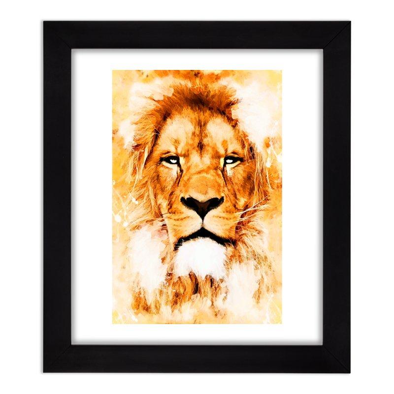 Lion art Home Framed Fine Art Print by jbjart Artist Shop