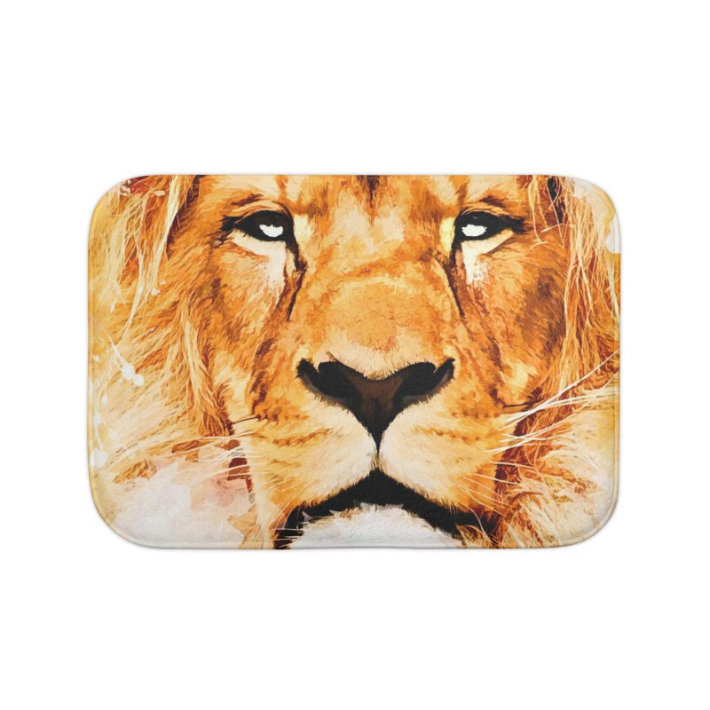 Lion art Home Bath Mat by jbjart Artist Shop