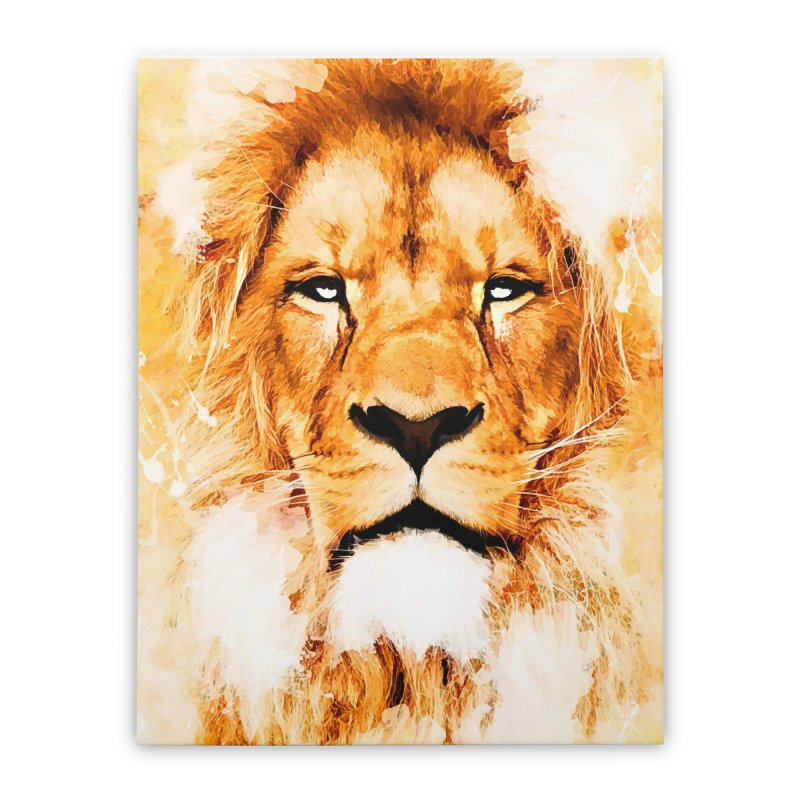 Lion art Home Stretched Canvas by jbjart Artist Shop