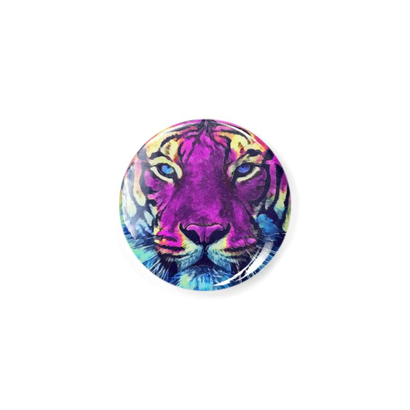 Tiger art Accessories Button by jbjart Artist Shop