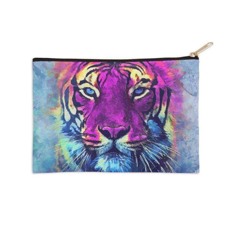 Tiger art Accessories Zip Pouch by jbjart Artist Shop