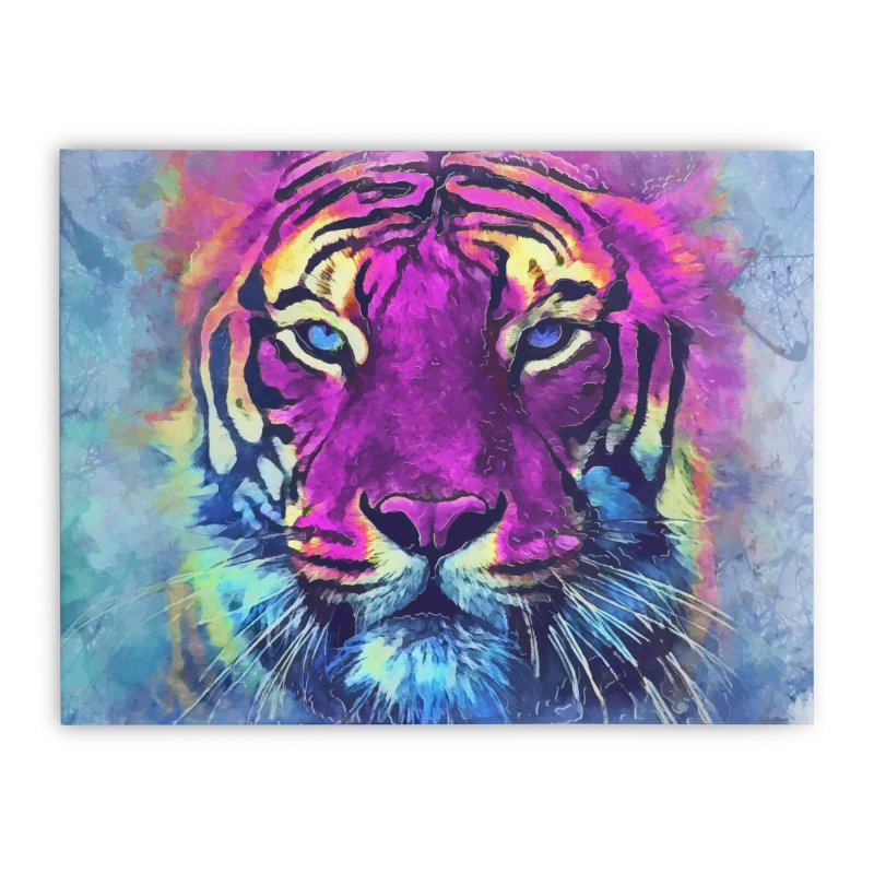 Tiger art Home Stretched Canvas by jbjart Artist Shop