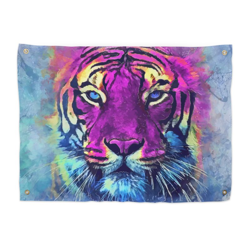 Tiger art Home Tapestry by jbjart Artist Shop