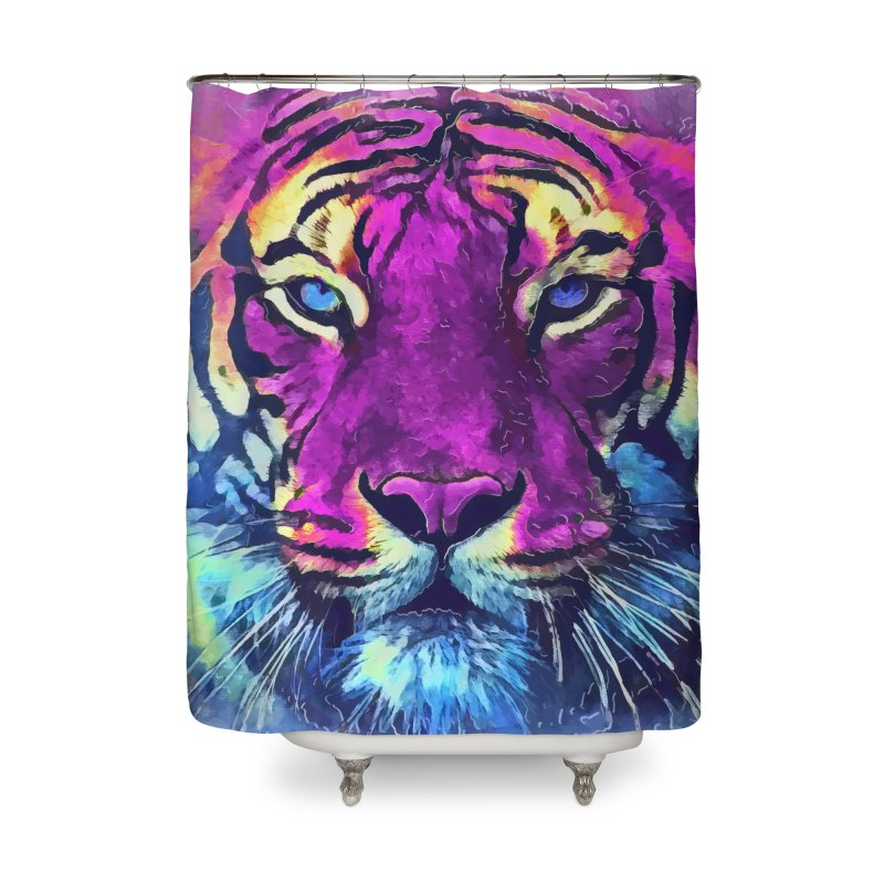 Tiger art Home Shower Curtain by jbjart Artist Shop