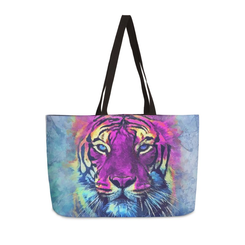 Tiger art Accessories Weekender Bag Bag by jbjart Artist Shop