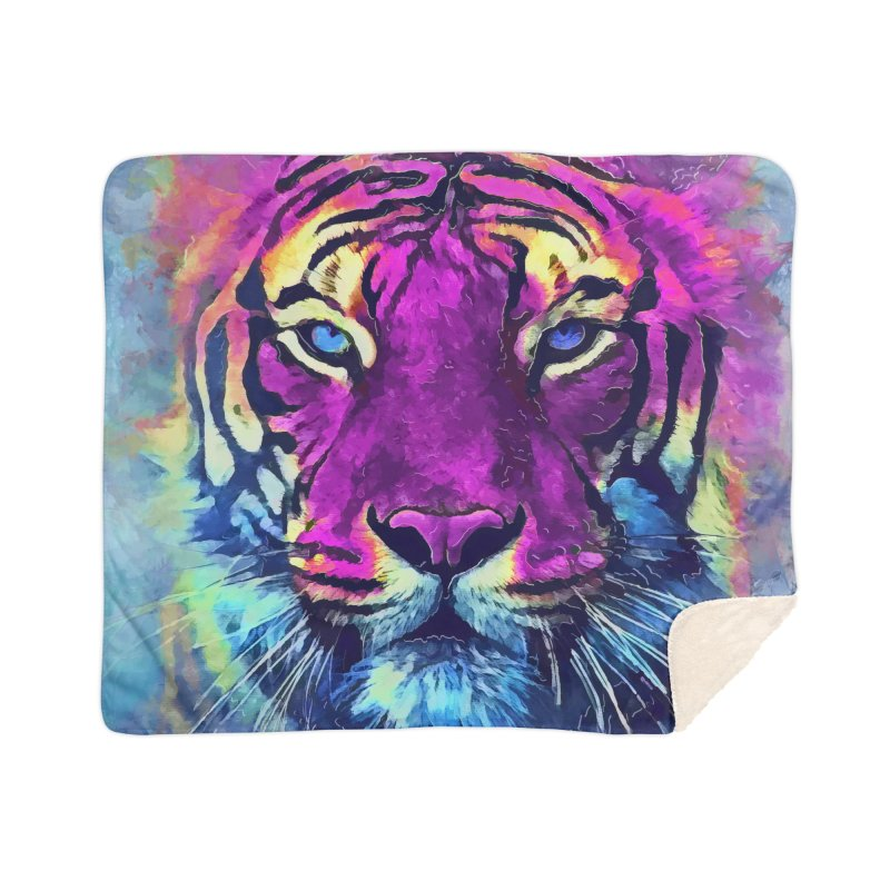 Tiger art Home Blanket by jbjart Artist Shop