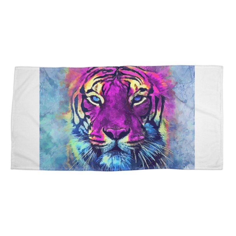 Tiger art Accessories Beach Towel by jbjart Artist Shop