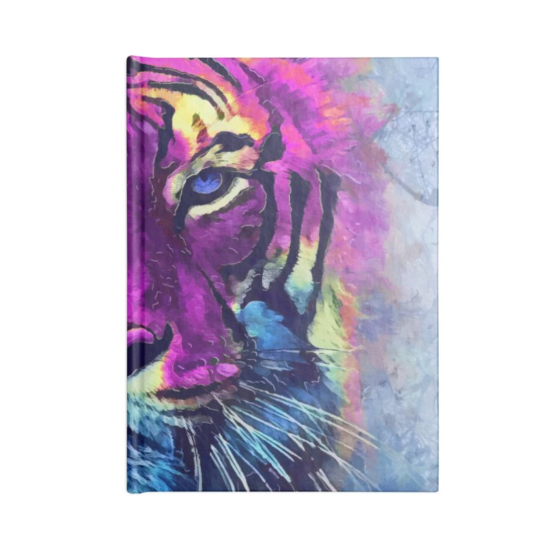 Tiger art Accessories Lined Journal Notebook by jbjart Artist Shop