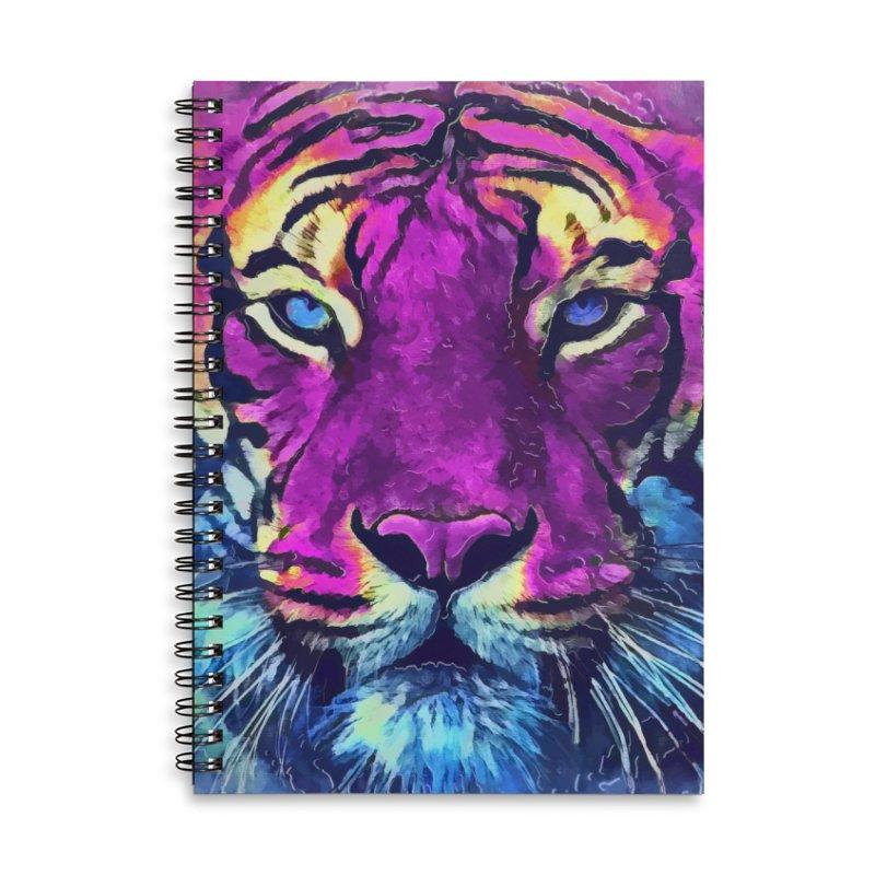 Tiger art Accessories Lined Spiral Notebook by jbjart Artist Shop