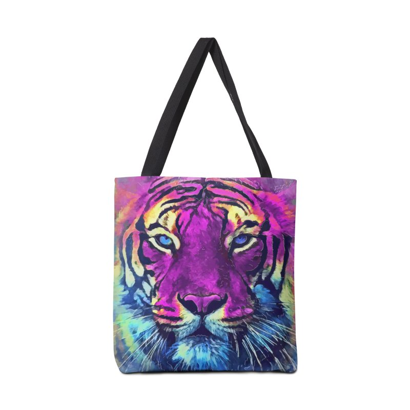 Tiger art Accessories Bag by jbjart Artist Shop