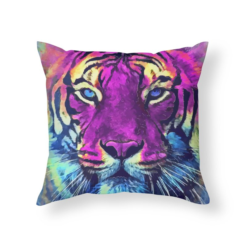 Tiger art Home Throw Pillow by jbjart Artist Shop