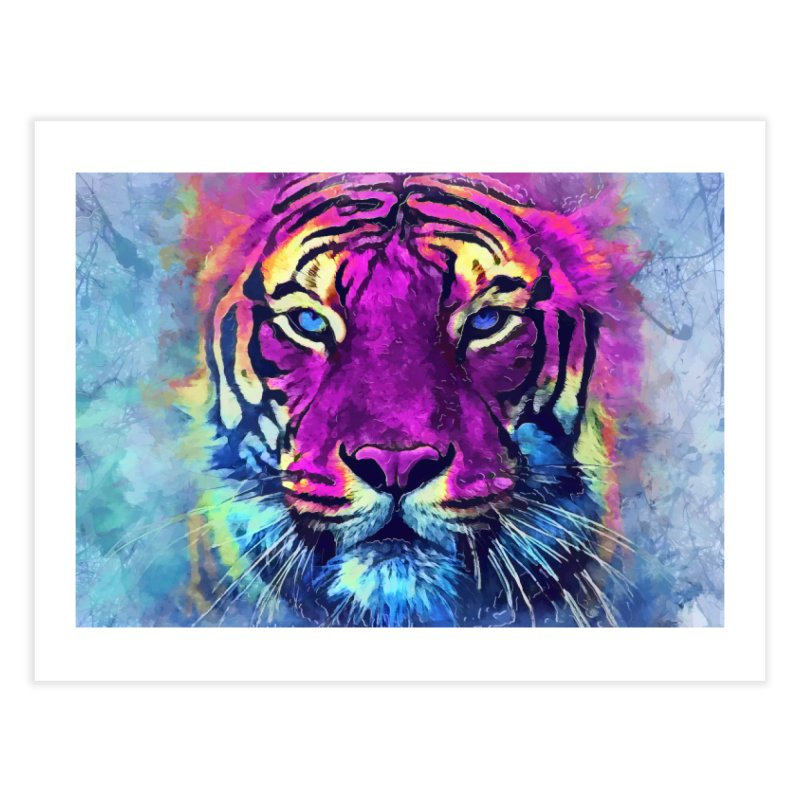 Tiger art Home Fine Art Print by jbjart Artist Shop